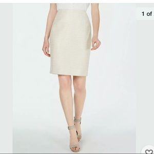 Calvin Klein Metallic Striped Pencil Skirt